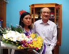 """Vợ Hoàng Xuân Vinh: """"Tôi hét vang lên khi chồng giành HCV"""""""