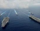 Mỹ triển khai 2 cụm tàu sân bay ở châu Á là điều hiếm thấy