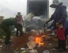 Tiêu hủy gần 5 tấn thuốc bắc và 7 tạ phụ gia thực phẩm nhập lậu ẩm mốc
