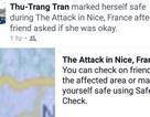 """Du học sinh Việt tại Nice chọn """"Safe mark"""", chưa có báo thương vong"""