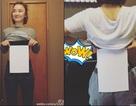 Thiếu nữ Trung Quốc rộ mốt so eo với… tờ giấy A4