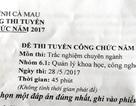 Truy trách nhiệm vụ lộ đề thi công chức tại Cà Mau
