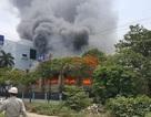 Cháy lớn tại công ty chuyên sản xuất cáp điện