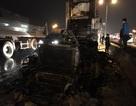Hà Nội: Xe container cháy rụi đầu trên cầu Thanh Trì