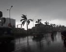 Bầu trời Nghệ An đen kịt, mưa to kèm gió giật mạnh