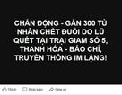 """Bác thông tin """"gần 300 tù nhân chết do lũ quét tại Thanh Hóa"""""""