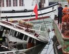 Tàu du lịch chìm tại cảng khách quốc tế Tuần Châu