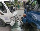 3 xe tải tông nhau, một tài xế kẹt cứng trong cabin