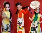 Dàn mẫu nhí Hà thành diện áo dài lấy cảm hứng từ tranh Đông Hồ