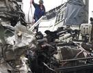 3 ô tô đâm nhau biến dạng trên cao tốc Nội Bài - Lào Cai
