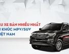 Mẫu SUV/MPV nào bán chạy nhất Việt Nam năm 2016?