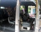 Xe khách bốc cháy, 6 người may mắn thoát chết