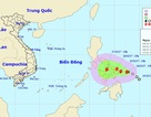 Bão giật cấp 10 đang tiến vào Biển Đông