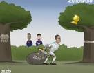 """Góc biếm họa: C.Ronaldo """"vơ vét"""" danh hiệu"""
