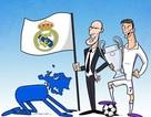 """Biếm họa: Châu Âu quỳ gối trước Real Madrid, Wenger """"mọc rễ"""" ở Arsenal"""