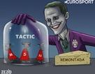 """Biếm họa về """"trọng tài mù"""", những siêu sao Barca bị """"nhốt trong lồng"""""""