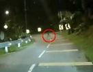 """Rợn người lái xe ghi được hình ảnh """"bóng ma"""" ngồi trên đường"""