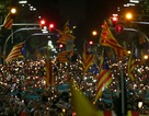 Biểu tình rúng động Barcelona phản đối bắt giam hai lãnh đạo ly khai Catalonia