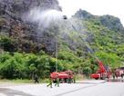 Điều xe thang dập đám cháy trong vùng lõi quần thể danh thắng Tràng An