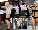 Cựu vũ công thoát y để ngực trần vận động tranh cử tổng thống Pháp