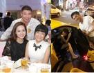 Công Lý ngồi cùng bạn gái và vợ cũ, Hồ Hà ăn đêm với Cường Đôla