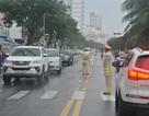 Cảnh sát giao thông đội mưa tập dượt cho Tuần lễ cấp cao APEC