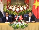 Chủ tịch nước Trần Đại Quang đón tiếp Tổng thống Ai Cập thăm cấp Nhà nước tới Việt Nam