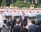 Toàn cảnh lễ đón Chủ tịch Trung Quốc Tập Cận Bình tại Phủ Chủ tịch