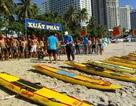 Nghẹt thở thi bơi ván tiếp sức trên bãi biển du lịch Nha Trang