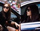 Hoa hậu Kỳ Duyên gây chú ý khi tự lái xế hộp đi thử trang phục