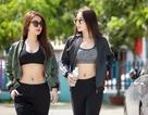 Hoa hậu Kỳ Duyên phô dáng nóng bỏng trên phố với Diệp Lâm Anh