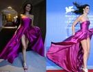 Siêu mẫu Brazil hở bạo với váy tím