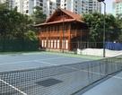 """Cận cảnh nhà sàn, sân tennis """"mọc"""" giữa sân trường tại Thủ đô"""