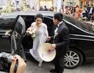 Hoa hậu Thu Ngân rạng rỡ trong ngày rước dâu