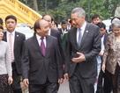 Lễ đón Thủ tướng Singapore Lý Hiển Long tại Phủ Chủ tịch