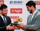 Nhận giải Chiếc giày vàng, Messi san bằng kỷ lục của C.Ronaldo
