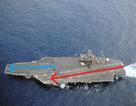 Vì sao tàu sân bay Mỹ luôn có 2 đường băng chéo góc?