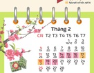 Bộ lịch các ngày Lễ, Tết trong năm 2018