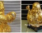 """Hai tượng """"vàng"""" nhặt được có phải là vàng thật?"""