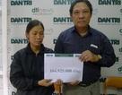 Gần 165 triệu đồng đến với gia đình chị Oanh có con bị bỏng, chồng ung thư