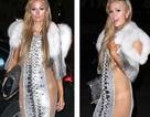 Paris Hilton diện váy lộ nội y tại tuần lễ thời trang New York