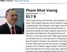 Tỷ phú Việt vượt ông Donald Trump; Chi 400 tỷ đồng, vợ sếp ngân hàng lọt top người giàu