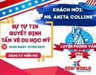 Luyện phỏng vấn du học Mỹ cùng Ms. Anita Collins lúc 14h ngày 17/05/2017