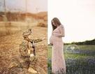 """Cảm động bức ảnh """"không khoảng cách"""" của anh lính hải quân và vợ"""