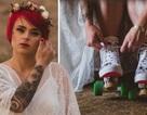 Cô dâu cá tính vẫn đẹp long lanh dù trượt patin đến cử hành hôn lễ