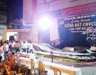 Sập sân khấu biểu diễn ở Huế