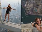 Rợn người cảnh người mẫu chụp treo lửng lơ trên toà nhà chọc trời