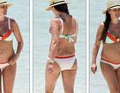 Hoa hậu Danielle Lloyd tự tin diện bikini trong lần mang bầu thứ 4