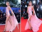Bạn gái của Kristen Stewart khoe chân dài miên man với váy xẻ bạo