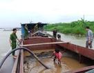 Bắt 2 tàu hút trộm cát trên sông Hồng